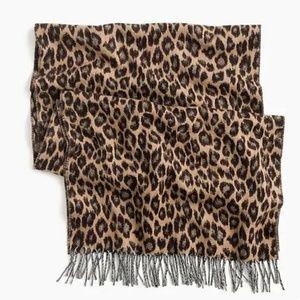 J. Crew Italian Wool-blend Scarf in Leopard